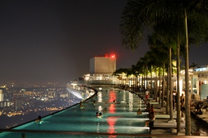 57th floor of the Marina Bay Sands Casino in Singapore