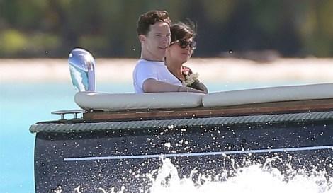 Benedict Cumberbatch & Sophie Hunter honeymoon